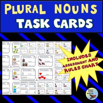 Plural Nouns Task Cards Great for Gen Ed SPED ESL