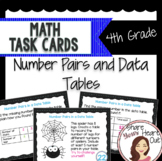 4th Grade Math Task Cards- Number Pairs and Data Tables; CCSS 4.OA.C.5