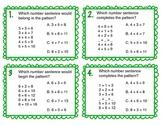 Task Cards: Number Sentence Patterns