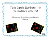 Task Cards: Numbers 1-10 for students with CVI