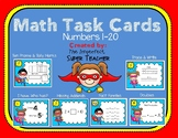 "Task Cards Numbers 1-20 including ""I have...Who has?"""