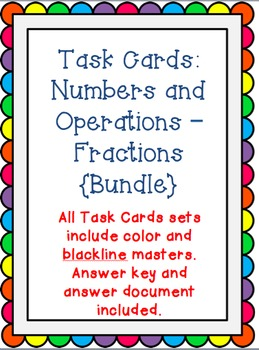 Task Cards: Numbers & Operations Fractions {Bundle}