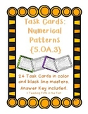 Task Cards: Numerical Patterns/Finding a Rule  5.OA.3