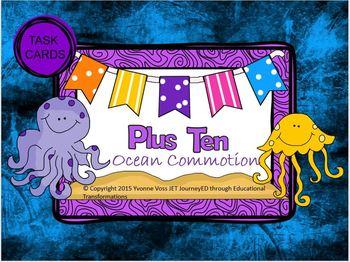 Task Cards Ocean Plus Ten