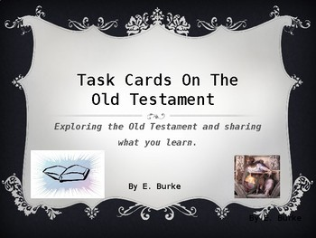 Task Cards On The Old Testament