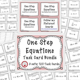 Solving Equations One Step Equations With Negatives 120 Task Cards Math Review