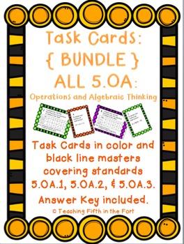 Task Cards: Operations and Algebraic Thinking Bundle 5.OA.1/ 5.OA.2/ 5.OA.3