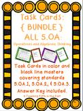 Task Cards: Operations and Algebraic Thinking Bundle 5.OA.