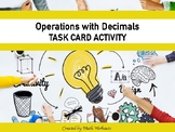 All Operations with Decimals Task Cards 5.NBT.7