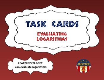 Task Cards PLUS - Evaluating Logarithms