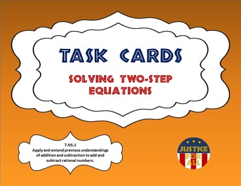Task Cards PLUS - Solving 2-Step Equations