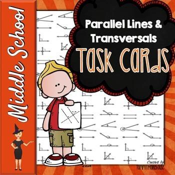 Parallel Lines & Transversals Task Cards