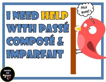 Task Cards Passé Composé & Imparfait (Bien Dit 2 Chapter 6.2/7.1/10.2)