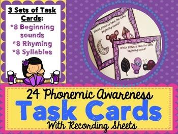Task Cards - Phonemic Awareness