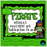 Task Cards Pirate Doubles Addition to 20