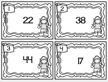 Task Cards Pirate Rounding to the Nearest Ten