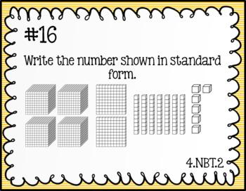 Task Cards: Place Value NBT1, NBT2, NBT3
