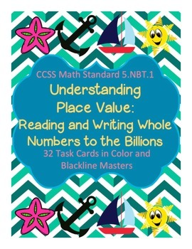 Task Cards/SCOOT: Place Value [Reading and Writing Whole Numbers] 5.NBT.A.1