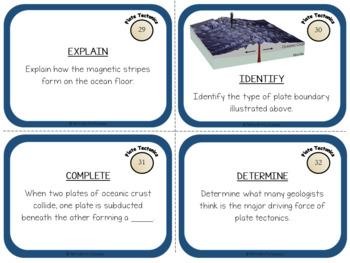 Plate Tectonics: Earth Science Task Cards