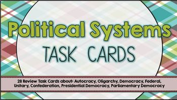 Task Cards -- Political Systems (Government)