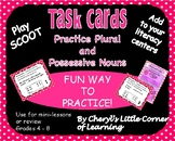 Task Cards Possessive Nouns and Plural Nouns Includes a my