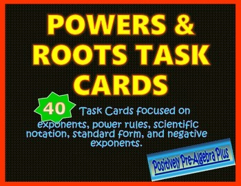 Task Cards Powers & Roots