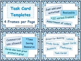 Task Cards Premade Frames – Four per Page – Commercial Use