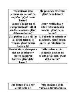 Task Cards - Present Subjunctive