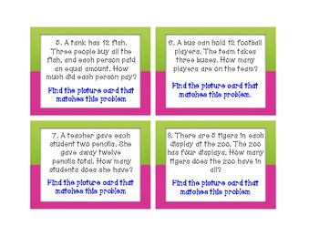 Task Cards: Problem & Picture Matching (2-3)