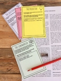4 Task Cards ** Promoting Reading Strategies & Metacognitive Strategies**