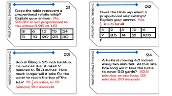 Task Cards Proportional Thinking