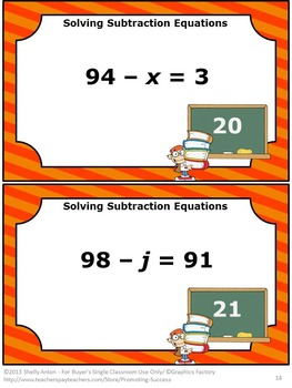 42 Algebraic Expressions, Middle School Math Review, Algebra 1 Task Cards
