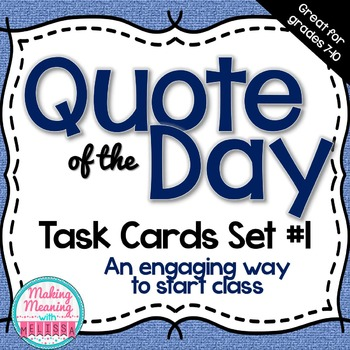 Task Cards - Writing prompts - Set 1