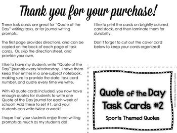 Task Cards - Writing prompts - Set 2- Middle-High School
