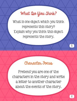 Reader Response Task Cards { We Love To Read! } For use with any book!