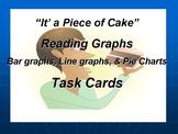 Task Cards Reading Graphs: Line Graphs, Bar Graphs, and Pi