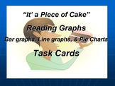 Task Cards Reading Graphs: Line Graphs, Bar Graphs, and Pi