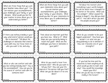 Reflective Prompts for Secondary to Adult Students
