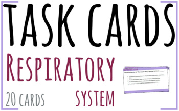 Task Cards - Respiratory System