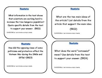Task Cards: Restating the Prompt
