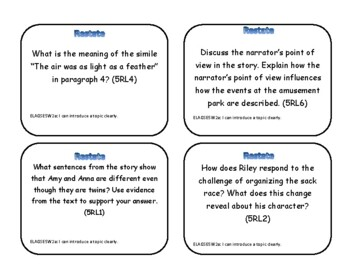 Task Cards: Restating the Prompt