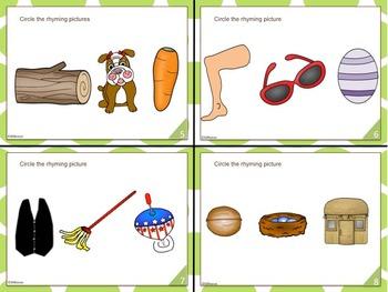 Task Cards: Rhyming Short Vowel CVC words