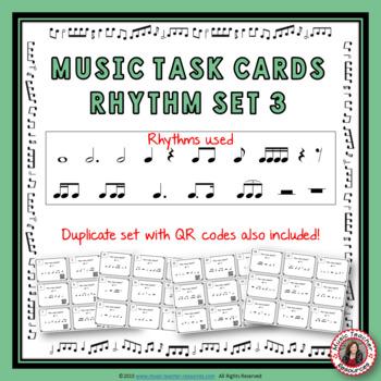 Music Task Cards: Rhythm Set 3