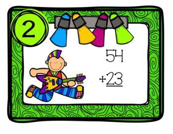 Task Cards Rock N Roll Math
