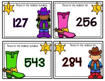 Task Cards:  Rodeo Roundup