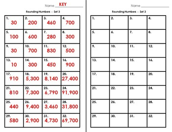 Task Cards - Rounding Numbers to Tens and Hundreds