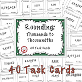 Free Download Rounding Task Cards
