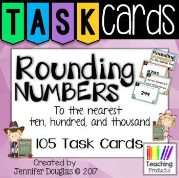 Task Cards - Rounding numbers to the nearest ten, hundred and thousand