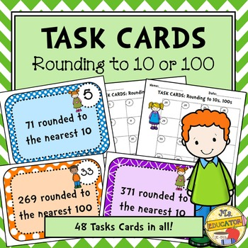 Task Cards: Rounding to 10 or 100