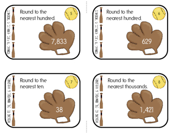 Task Cards: Rounding to the Nearest Ten, Hundred, & Thousand